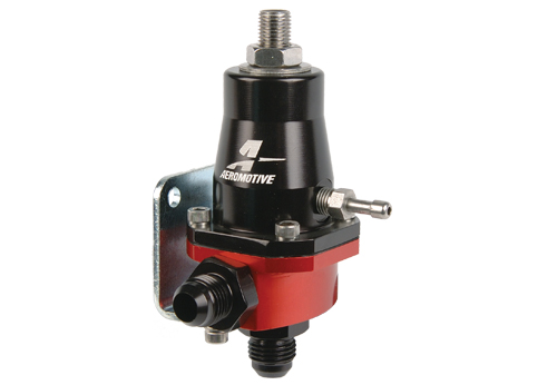 "Regulator ciœnienia paliwa Aeromotive Compact EFI, Adjustable 30-70 PSI, AN-6 male inlet and return, 1/8"" NPT gauge port"