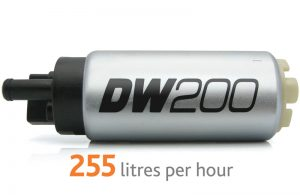 Pompa paliwa DW200 DeatschWerks (255lph), Subaru Forester 1997-2007, Subaru Impreza WRX/STI 1993-2007, Subaru Legacy 1990-2007 zestaw monta¿owy 9-0791