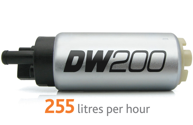 Pompa paliwa DW200 DeatschWerks (255lph), Nissan Skyline R32/R33 RB25DET & RB26DETT , 300ZX 90-96 zestaw monta¿owy 9-1023