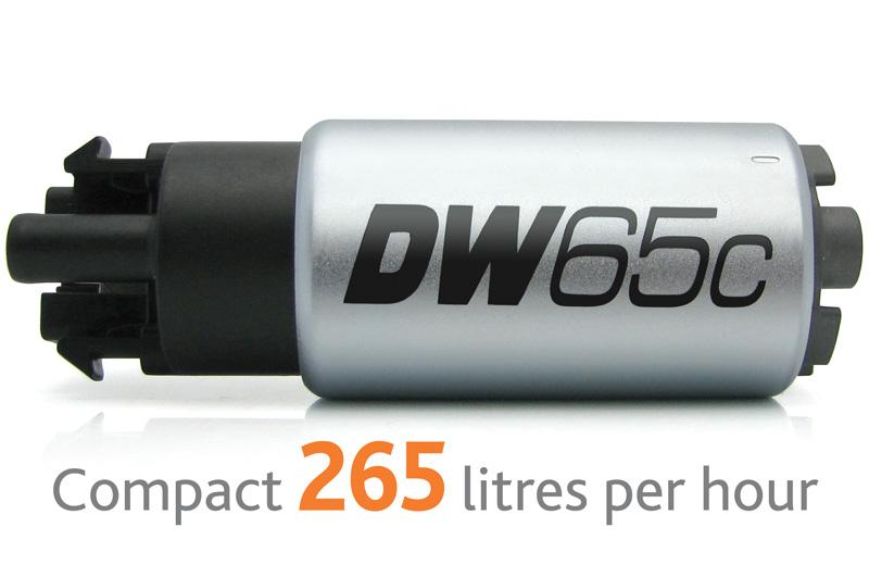 Pompa paliwa DW65c DeatschWerks (265lph), uniwersalny zestaw monta¿owy 9-1000 z klipami
