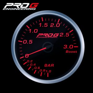 WskaŸnik Pro G Race Series RS, do³adowania Boost 3 Bar RED 52mm