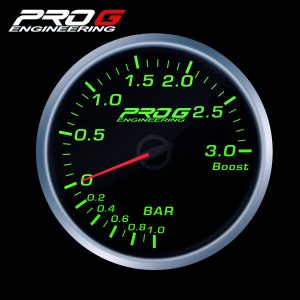 WskaŸnik Pro G Race Series RS, do³adowania Boost 3 Bar GREEN 60mm