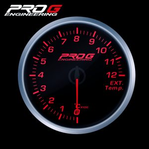 WskaŸnik Pro G Race Series RS, temperatury spalin EGT °C RED 52mm